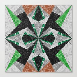 Marble Geometric Background G439 Canvas Print
