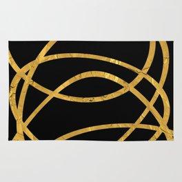 Golden Arcs - Abstract Rug