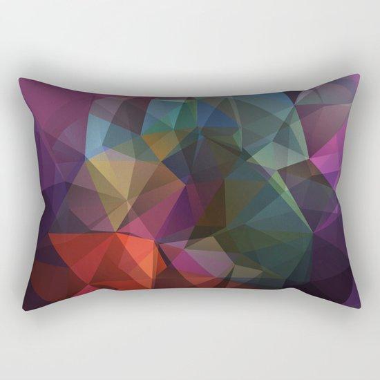 Colored polygon pattern. Rectangular Pillow