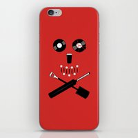 shaun of the dead iPhone & iPod Skins featuring Shaun of the Dead - Skull by Nick Kemp