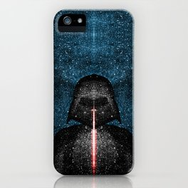 Darth Vader with Lightsaber in Galaxy iPhone Case