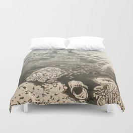 MoonSea EcoSystem Black and White Duvet Cover