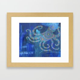 Octopus Mandala Framed Art Print