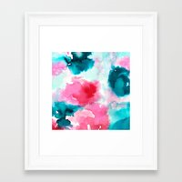 water color Framed Art Prints featuring Water color by moniquilla