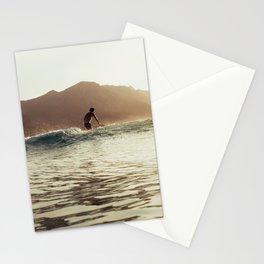 Corsica Sunrise Surfer Stationery Cards