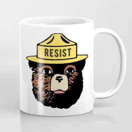SMOKEY THE BEAR SAYS RESIST Coffee Mug