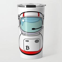 Astronaut Bitcoin Patch Travel Mug