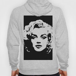 Marilyn - Black and White - Monroe - Pop Art Hoody