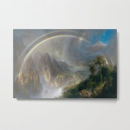 Rainy Season in the Tropics - Frederic Edwin Church Metal Print