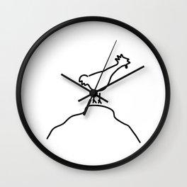 cock dung crow Wall Clock