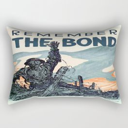 Vintage poster - Remember the Bond Rectangular Pillow