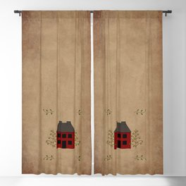 Primitive Country House Blackout Curtain