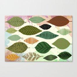 Automn leafs motif Canvas Print