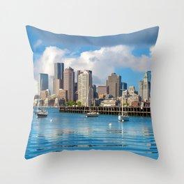 Boston 02 - USA Throw Pillow