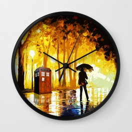 Tardis Phone Both With People Stay Alone Wall Clock