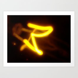 Yellow I Art Print