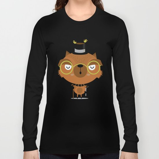Cat with hat Long Sleeve T-shirt