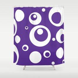 Circles Dots Bubbles :: Grape Juice Shower Curtain