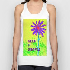 Wildflower Keep It Simple Unisex Tank Top