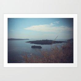 Santorini, Greece 15 Art Print