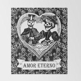 Amor Eterno | Eternal Love | Black and White Throw Blanket