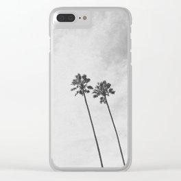 PALM TREES II / San Mateo, California Clear iPhone Case