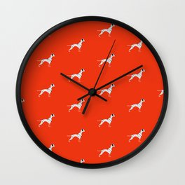 DALMATIANS ((cherry red)) Wall Clock