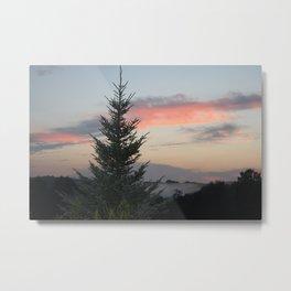 Mountain Top Tree Metal Print