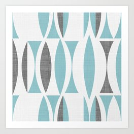 Seventies in aqua Art Print