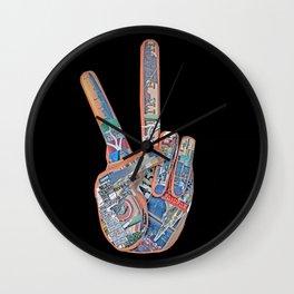 Peace Out, Cali Wall Clock