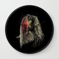 lotr Wall Clocks featuring Evil Border by RicoMambo
