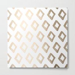 Gold Diamond Design Metal Print