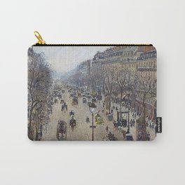 Camille Pissarro  -  Boulevard Montmartre  Morning  Cloudy Weather Carry-All Pouch