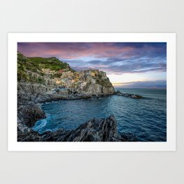 magnificent Manarola at sunset Art Print