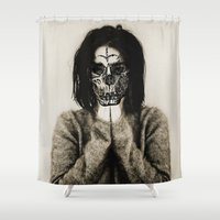bjork Shower Curtains featuring Bjork skull by Sincere