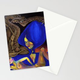 Darlings & Dragons Blue Hair Stationery Cards
