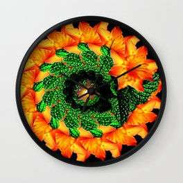 SunFlower at Night Wall Clock