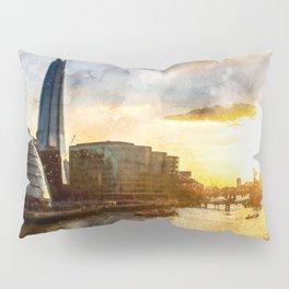 london-evening-sun-river-thames1 Pillow Sham