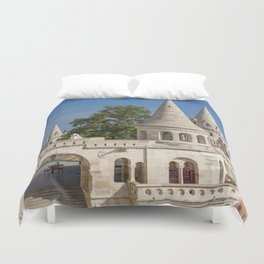 Budapest Fisherman's Bastion Duvet Cover