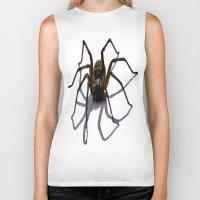 spider Biker Tanks featuring SPIDER by aztosaha