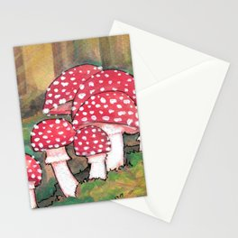 Mushrooms in the Woods Stationery Cards