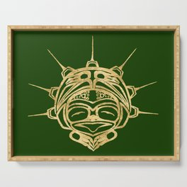 Gold Frog Grass Serving Tray