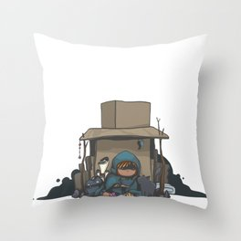 Cardboard Castle Throw Pillow