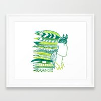 peter pan Framed Art Prints featuring Peter Pan by Owl Feather Studio