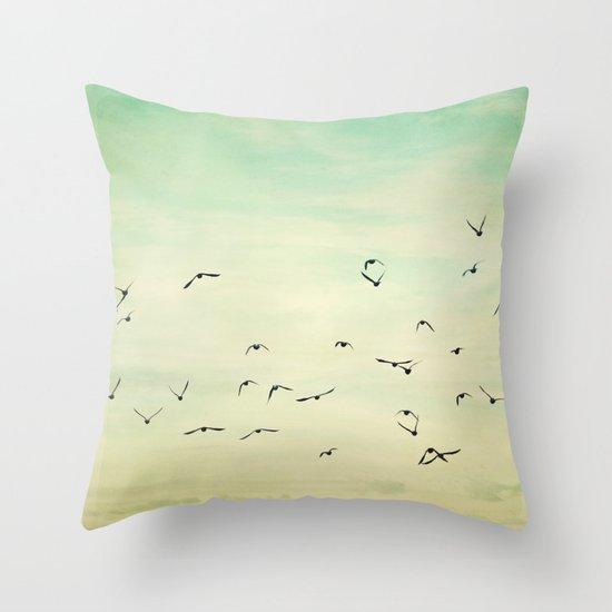 Graceful Flock Throw Pillow