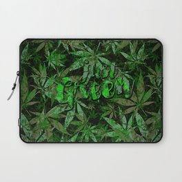 Just green - cannabis plant leaves #society6 Laptop Sleeve