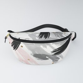 Strokes and gold dots Fanny Pack