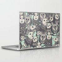 sweater Laptop & iPad Skins featuring sweater mice mint by Sharon Turner