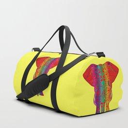 Rainbow Ganesha (Yelow Background) Duffle Bag