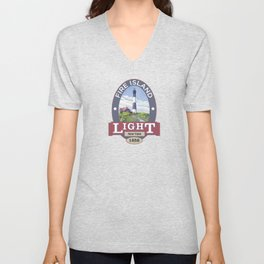 Fire Island Lighthouse Unisex V-Neck
